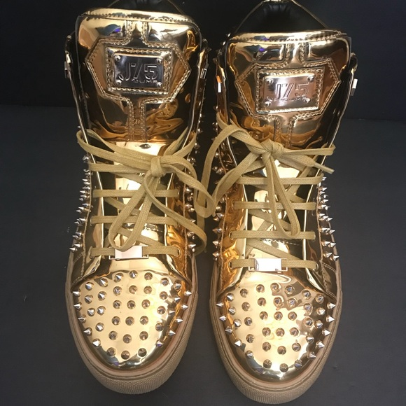 J75 by Jump Zircon Gold Mens Fashion Casual High Top Shoes
